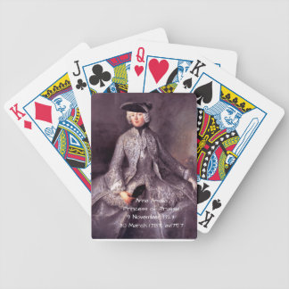 Anna Amalia Princess of Prussia av1757 Bicycle Playing Cards