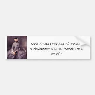 Anna Amalia Princess of Prussia Bumper Sticker