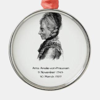 Anna amalie von Preussen Metal Ornament
