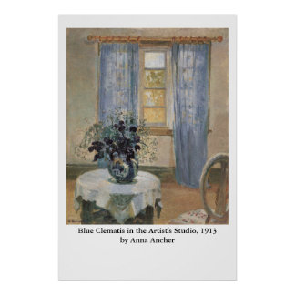 Anna Ancher s Blue Clematis in the Artist s Studio Print