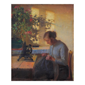 Anna Ancher's Sewing Fisherman's Wife Posters