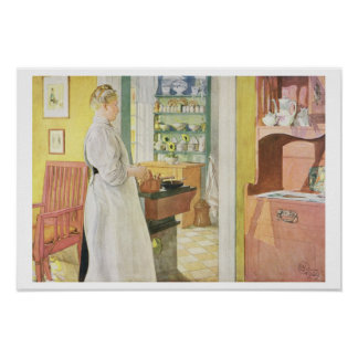 Anna Arnbom (Kitchen Scene), pub. in 'Lasst Licht Poster