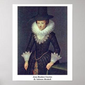 Anna Boudaen Courten By Salomon Mesdach Poster