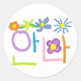 Anna Classic Round Sticker