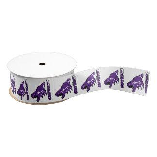 Anna coyotes mascot placed on ribbon grosgrain ribbon