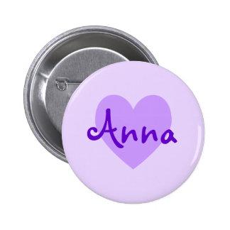 Anna in Purple 6 Cm Round Badge