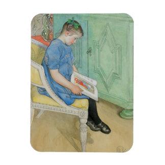Anna Johanna Reading a Book Rectangular Photo Magnet