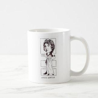 Anna Little silent movie actress caricature Basic White Mug