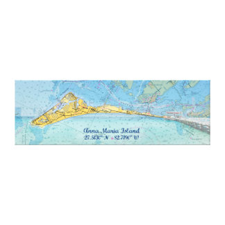 Anna Maria Island Digital Art Montage Stretched Canvas Prints