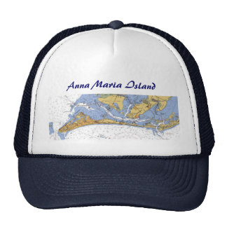 Anna Maria Island Florida Nautical Chart Hat