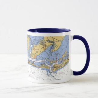 Anna Maria Island Florida Nautical Chart Mug