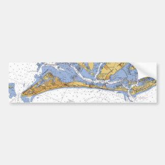 Anna Maria Island Florida Nautical Chart sticker Bumper Sticker