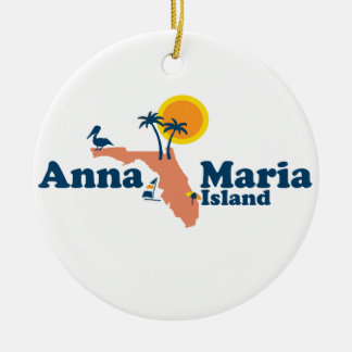 Anna Maria Island - Map Design. Ceramic Ornament