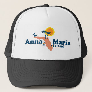 Anna Maria Island - Map Design. Trucker Hat