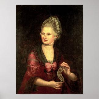 Anna Maria Mozart, nee Pertl Print