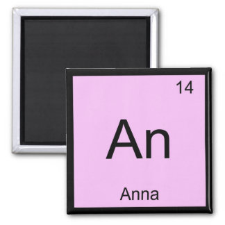 Anna Name Chemistry Element Periodic Table Square Magnet