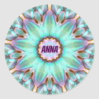 ANNA ~ Personalised Paua Shell Sticker Fractal ~
