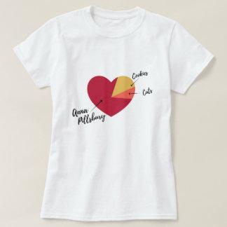 Anna Pillsbury Heart Pie Chart Shirt (Women's)