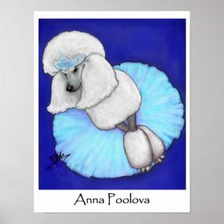 Anna Poolova Poodle Poster