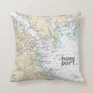 Annapolis home port throw pillow