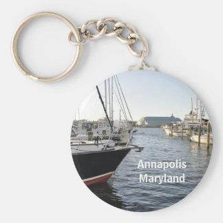 Annapolis, Maryland Basic Round Button Key Ring