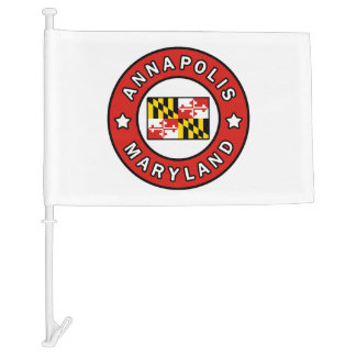 Annapolis Maryland Car Flag