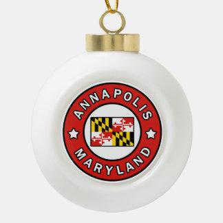 Annapolis Maryland Ceramic Ball Christmas Ornament