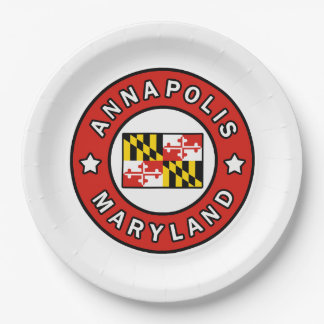 Annapolis Maryland Paper Plate