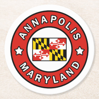 Annapolis Maryland Round Paper Coaster