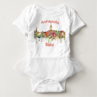 Annapolis, Maryland Skyline - Faded Glory Baby Bodysuit