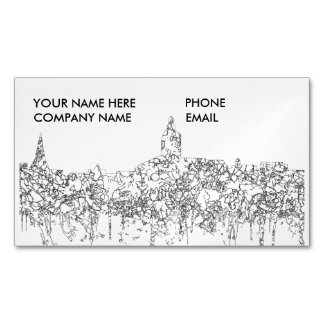 Annapolis Maryland Skyline SG-Black & White Magnetic Business Card