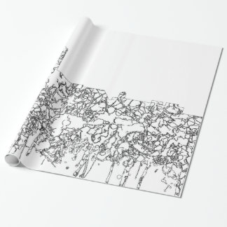 Annapolis Maryland Skyline SG- Black & White Wrapping Paper