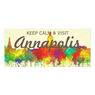 Annapolis Maryland Skyline-SG Custom Rack Cards