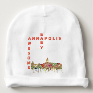 Annapolis, Maryland Skyline SG-Faded Glory Baby Beanie