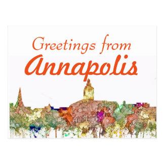 Annapolis Maryland Skyline SG - Faded Glory Postcard