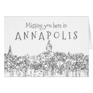 Annapolis Maryland Skyline SG-Safari Buff Card