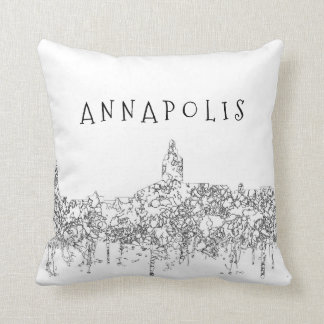 Annapolis Maryland Skyline SG-Safari Buff Cushion