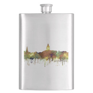 Annapolis, Maryland Skyline SG - Safari Buff Hip Flask