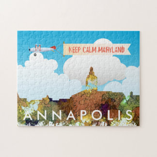 Annapolis, Maryland Skyline SG - Safari Buff Jigsaw Puzzle