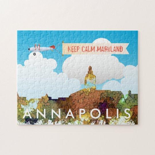 Annapolis, Maryland Skyline SG - Safari Buff Jigsaw Puzzle