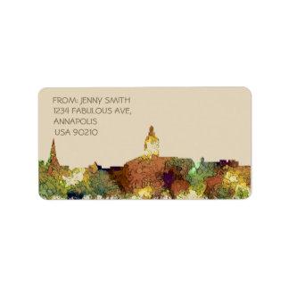 Annapolis, Maryland Skyline SG - Safari Buff Label