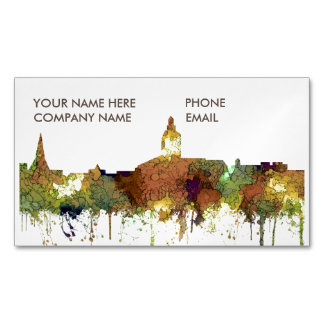 Annapolis, Maryland Skyline SG - Safari Buff Magnetic Business Card