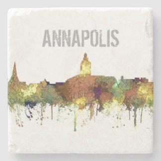 Annapolis, Maryland Skyline SG - Safari Buff Stone Coaster
