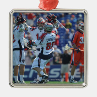 ANNAPOLIS, MD - AUGUST 28:  The Boston Cannons 4 Silver-Colored Square Decoration