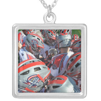 ANNAPOLIS, MD - AUGUST 28:  The Boston Cannons Square Pendant Necklace