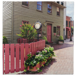 Annapolis MD - Clock by One State Circle Napkin