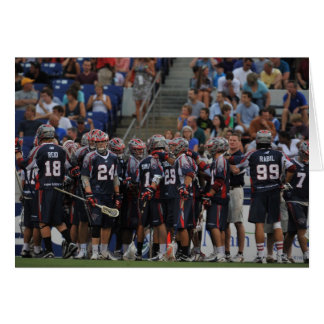 ANNAPOLIS, MD - JUNE 25:  The Boston Cannons Greeting Cards
