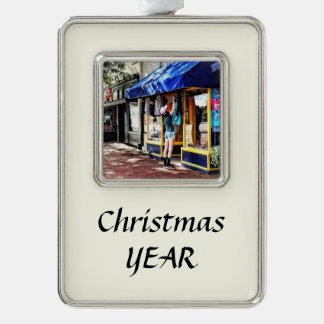 Annapolis MD - Opening For Business Silver Plated Framed Ornament