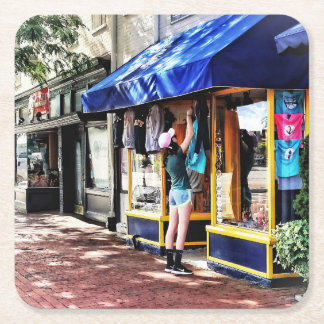 Annapolis MD - Opening For Business Square Paper Coaster
