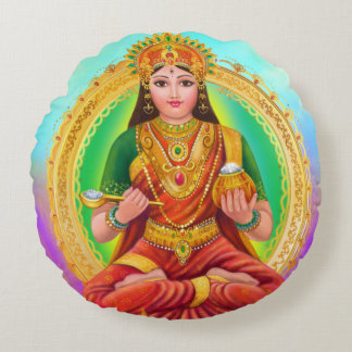 Annapoorna goddess round cushion